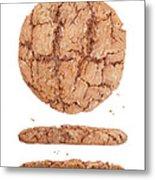 Molasses Cookie Metal Print