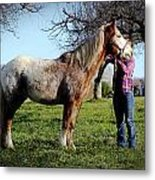 Molly And Her Horse  Metal Print