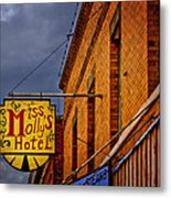 Miss Molly's Hotel Metal Print