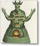 Moloch, The God Of The  Ammonites, An Metal Print