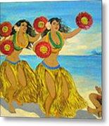 Moloka'i Hula 2 Metal Print