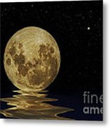 Molten Moon Metal Print