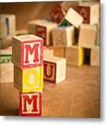 Mom Alphabet Blocks Metal Print