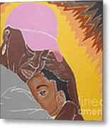 Mommy's Back Metal Print