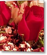 Moms Red Roses Metal Print