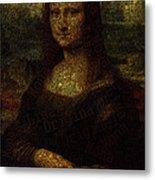 Mona Lisa Original Metal Print