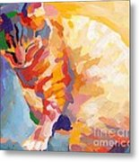 Mona Lisa's Rainbow Metal Print by Kimberly Santini