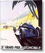 Monaco Grand Prix 1933 Metal Print