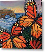Monarch Butterflies At Natural Bridges Metal Print by Jen Norton