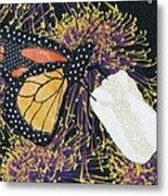 Monarch Butterfly On White Tulip Metal Print by Lynda K Boardman