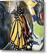 Monarch In A Jar Metal Print