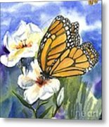 Monarchs In The Gardens Metal Print