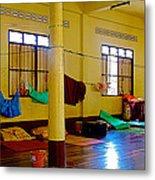 Monastery Dormitory In Tachilek-burma Metal Print