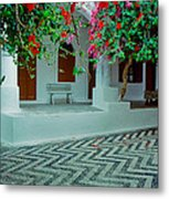 Monastery Symi Greece Metal Print