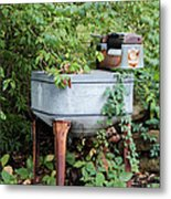 Monday Is Laundry Day Metal Print