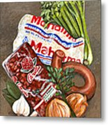 Monday's Tradition - Red Beans And Rice Metal Print