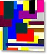 Mondrian Composition Metal Print