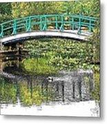 Monet Bridge Metal Print