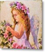 Monet Silked Angel Metal Print