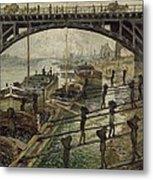 Monet The Coalmen 1875 Metal Print