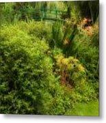 Monet's Garden Dreamscape Metal Print