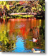 Monet's Garden In Hawaii 2 Metal Print