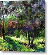 Monet's Garden Metal Print