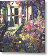 Monet's Home In Giverny Metal Print