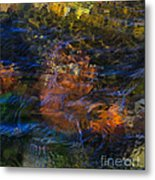 Monet's Leaves Metal Print