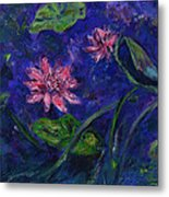 Monet's Lily Pond II Metal Print