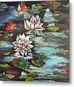 Monet's Pond With Lotus 1 Metal Print