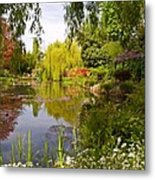 Monet's Water Garden 2 At Giverny Metal Print
