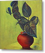 Money Plant - Still Life Metal Print
