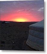 Mongolia Sunup Metal Print