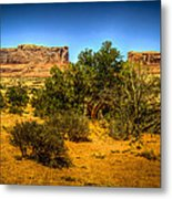 Monitor And Merrimack Buttes Metal Print
