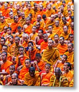 Monk Mass Alms Giving Metal Print by Fototrav Print