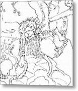 Monkey And Octipi Metal Print