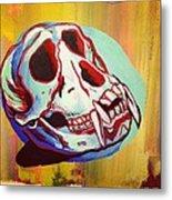 Monkey Skull Metal Print
