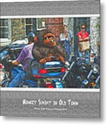 Monkey Sunday In Old Town Metal Print