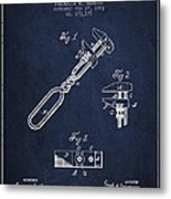 Monkey Wrench Patent Drawing From 1883 Metal Print