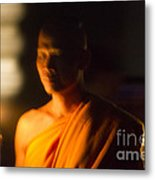 Monks At Yi Peng Metal Print