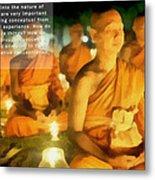 Monks In Meditation Metal Print
