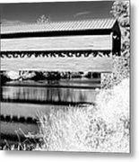 Mono Bridge Metal Print