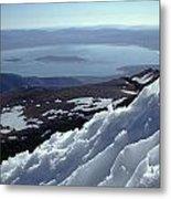 Mo-186-mono Lake From Mt. Dana In Winter  Metal Print