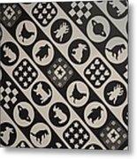 Monochrome Mosaic Metal Print