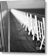 Monochrome Sun Deck Metal Print by Anne Gilbert