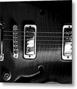 Monochrome Yamaha Metal Print