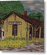 Monon Clear Creek Indiana Train Depot Metal Print