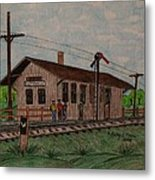 Monon Ellettsville Indiana Train Depot Metal Print
