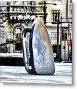 Monopoly Iron Statue In Philadelphia Metal Print
